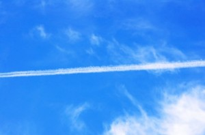 Blue Sky with Vapor Trail